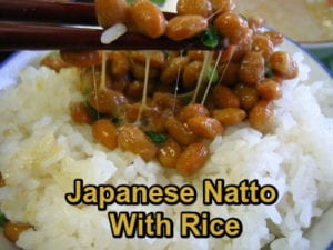 Natto with rice