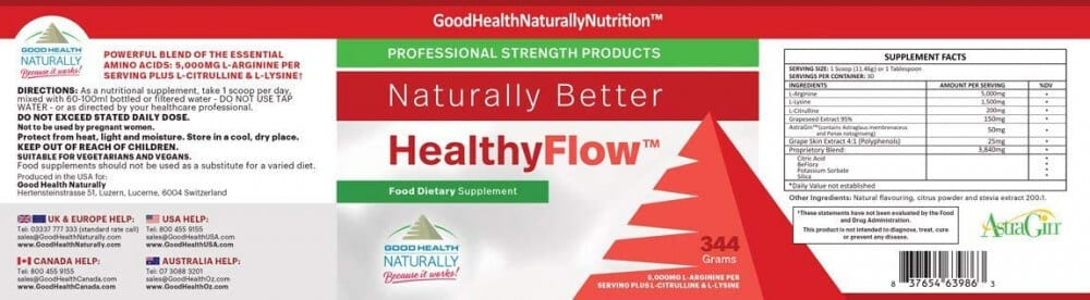 Healthyflow TM ingredients