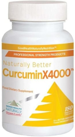 Curcumin 4000x vitamin supplement for joint pain