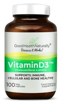 Vitamin D3 with calcium vitamin supplement for joint pain