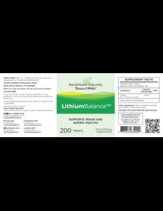 Lithium balance ingredients