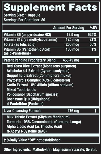 Cholesterol Optimizer ingredients